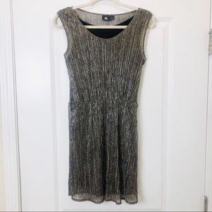 Rock & Republic Metallic Gold Sleeveless Dress